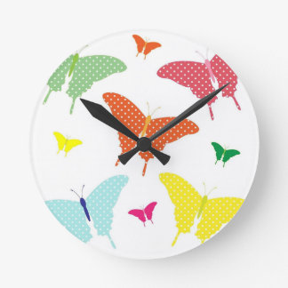 Colourful Butterflies Wall Clock