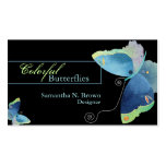 Colourful Butterfly: Designer Business Cards