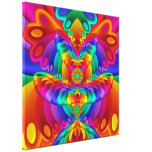 Colourful Butterfly Fractal Art Wrapped Canvas Stretched Canvas Print