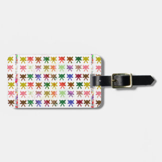 Colourful butterfly pattern graphic design luggage tag