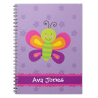 Colourful Butterfly Personalized Notebook