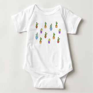 Colourful Cacti Baby Romper