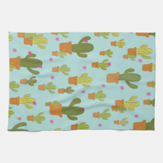 Colourful Cacti teatowel Kitchen Towel