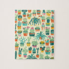 Colourful Cactus Flower Pattern Jigsaw Puzzle
