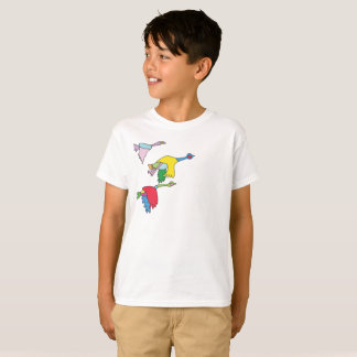 Colourful Canada Geese T-Shirt for Kids