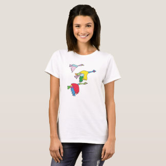 Colourful Canada Geese T-Shirt for Women