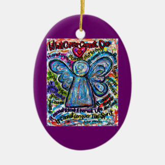Colourful Cancer Angel Ornament Pendant Customized