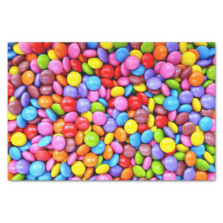 Colourful Candies Personalize Photo Tissue Paper