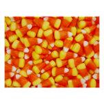 Colourful Candy Corn Poster