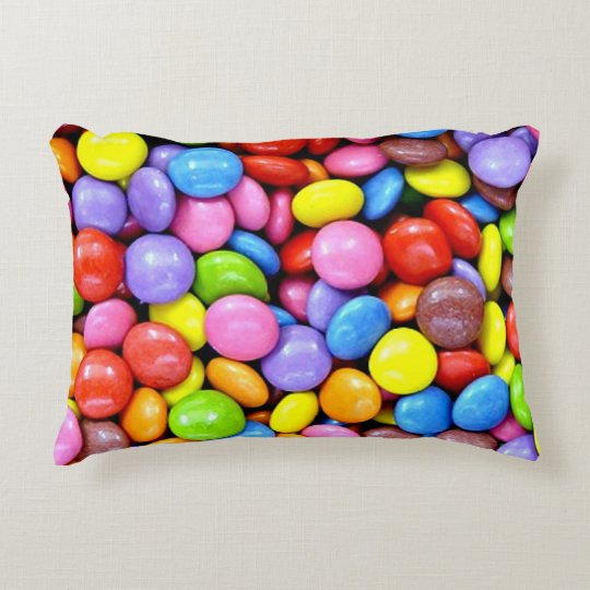Colourful Candy Pieces Decorative Pillow