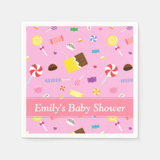 Colourful Candy Themed Baby Girl Shower Napkins Disposable Napkins