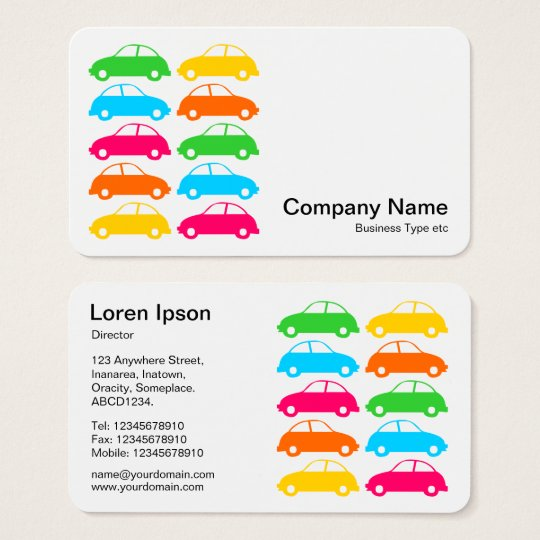 Colourful Cars 02 Business Card