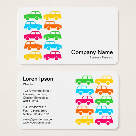 Colourful Cars Business Card