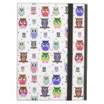 Colourful Cartoon Owls iPad Air Case