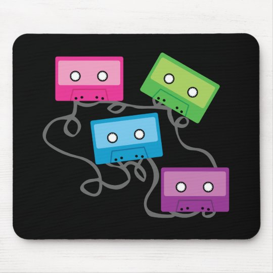 Colourful Cassette Tapes Mouse Pad