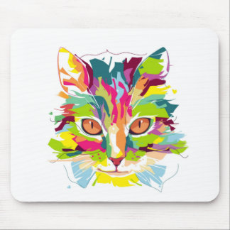 Colourful Cat Mouse Pad