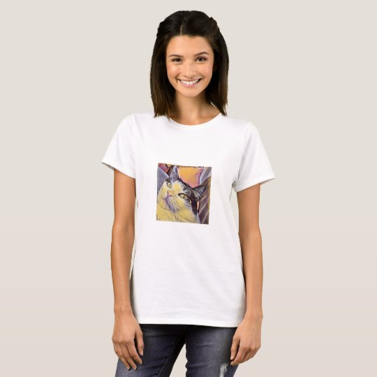 Colourful Cat T-Shirt