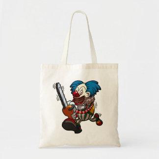 Colourful Chainsaw Clown Halloween Horror Cartoon