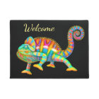 Colourful Chameleon Welcome Door Mat