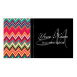 Colourful Chevron Pattern Pack Of Standard Business Cards