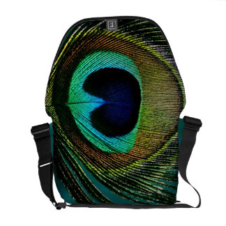 Colourful Chic Photography Peacock Feather Photo Messenger Bags
