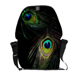 Colourful Chic Photography Peacock Feathers Photo Commuter Bags