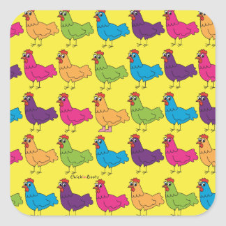 Colourful Chickens Stickers