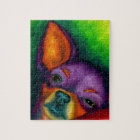 Colourful Chihuahua Jigsaw Puzzle