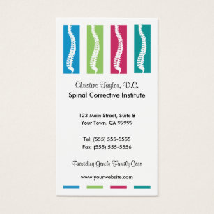 Chiropractic business cards business card printing zazzle ca colourful chiropractic business cards colourmoves