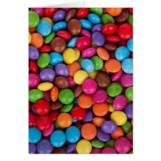 Colourful Chocolate Candies Card