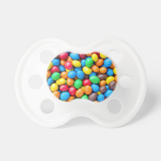 Colourful Chocolate Coated Sweets Pacifier