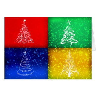 Colourful Christmas Greeting Card