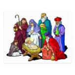 Colourful Christmas Nativity Scene