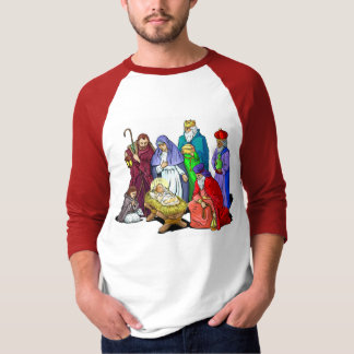 Colourful Christmas Nativity Scene T-Shirt