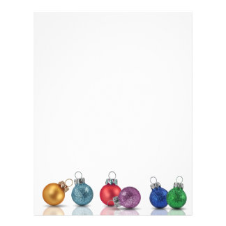Colourful Christmas Ornaments - Letterhead
