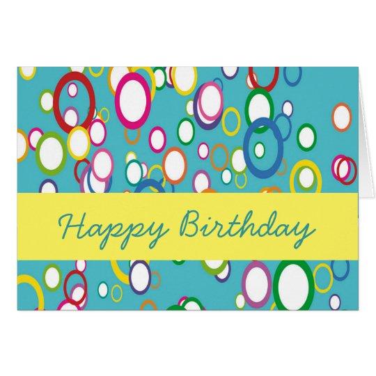 Colourful Circle Birthday Card