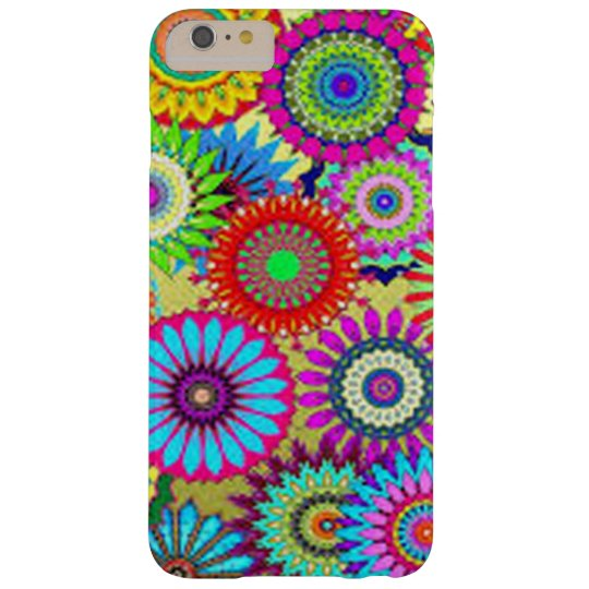Colourful Circle Flowers Barely There iPhone 6 Plus Case