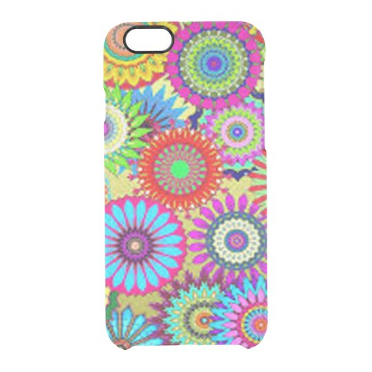 Colourful Circle Flowers Clear iPhone 6/6S Case