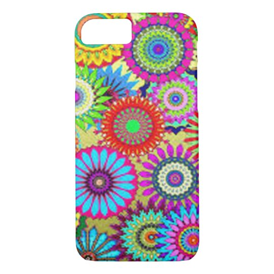Colourful Circle Flowers iPhone 7 Case