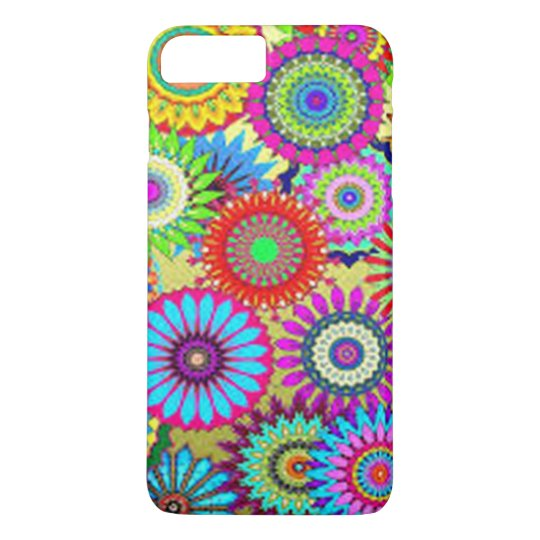Colourful Circle Flowers iPhone 7 Plus Case