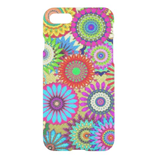 Colourful Circle Flowers iPhone 8/7 Case