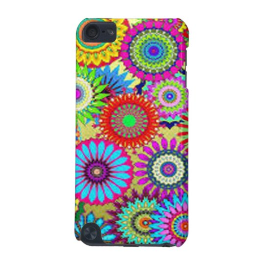 Colourful Circle Flowers iPod Touch (5th Generation) Case