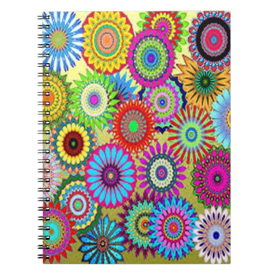 Colourful Circle Flowers Notebooks