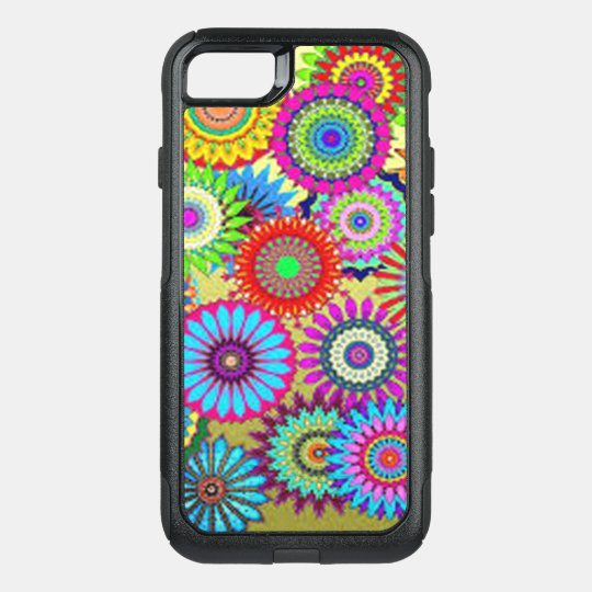 Colourful Circle Flowers OtterBox Commuter iPhone 7 Case