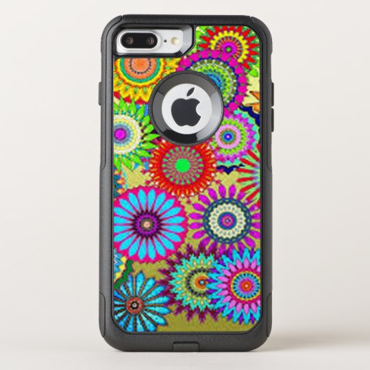 Colourful Circle Flowers OtterBox Commuter iPhone 7 Plus Case
