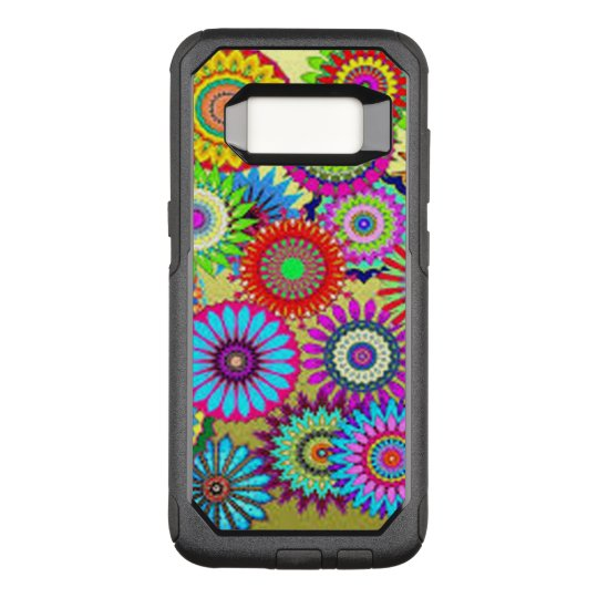Colourful Circle Flowers OtterBox Commuter Samsung Galaxy S8 Case