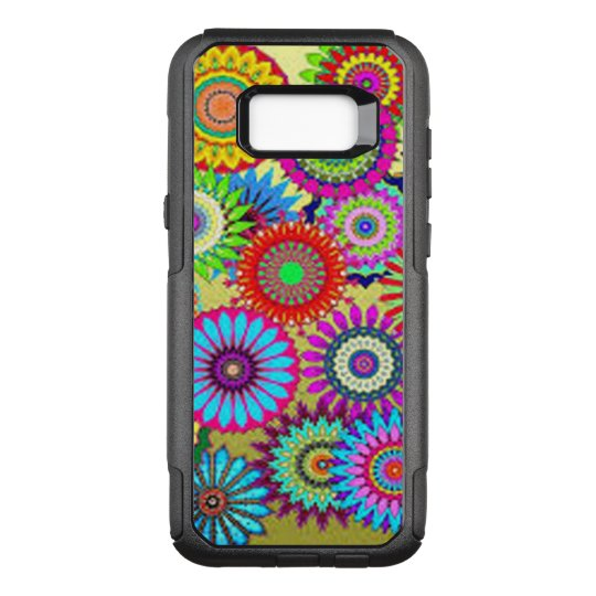 Colourful Circle Flowers OtterBox Commuter Samsung Galaxy S8+ Case