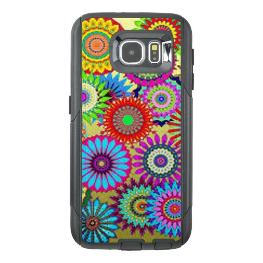 Colourful Circle Flowers OtterBox Samsung Galaxy S6 Case