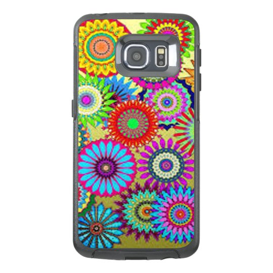 Colourful Circle Flowers OtterBox Samsung Galaxy S6 Edge Case