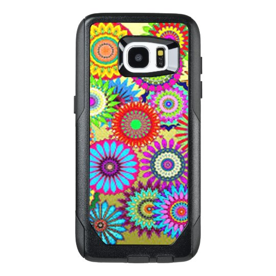 Colourful Circle Flowers OtterBox Samsung Galaxy S7 Edge Case